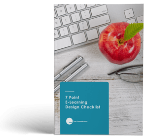7 Point E-Learning Design Checklist cover