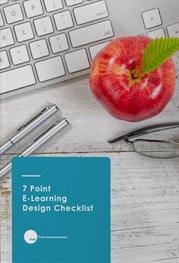 7 Point ELeanring Design Checklist ebook
